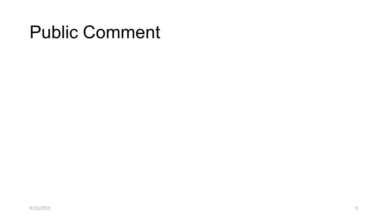 Public Comment 9/11/20139