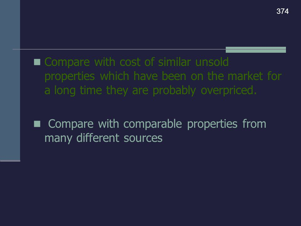 C.Advantages of The Cost Approach - can be used for: New buildings.