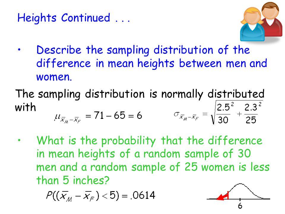 Properties of the Sampling Distribution of x 1 – x 2 1.