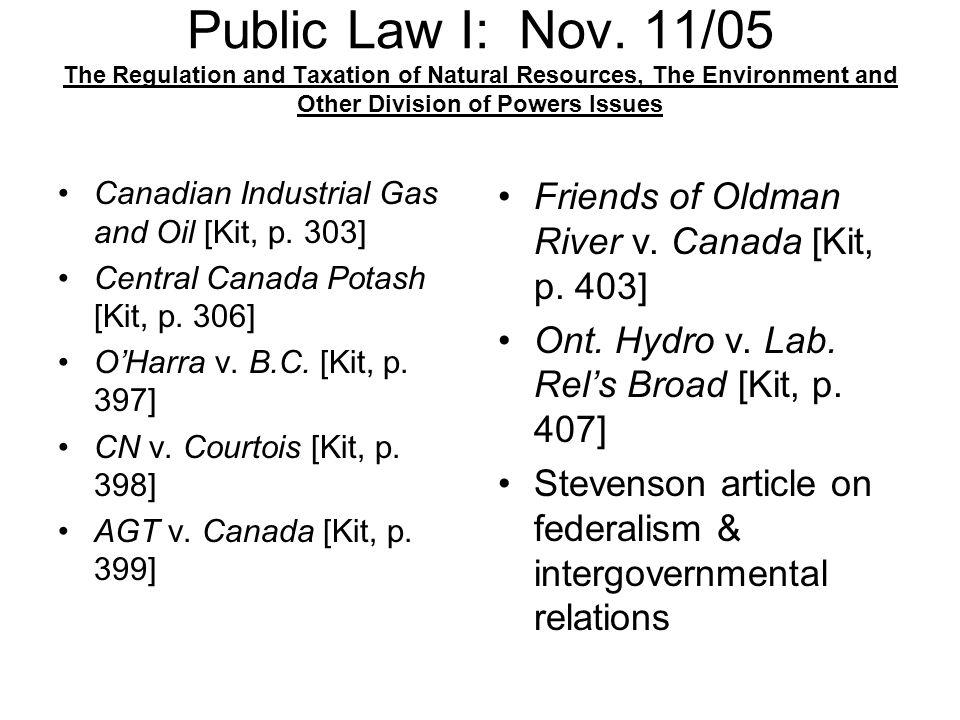 Public Law I: Nov.