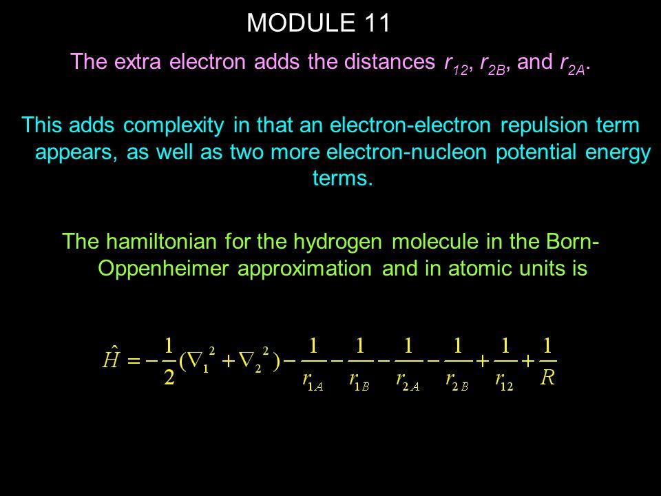 MODULE 11 where  b is the bonding orbital (1  ).