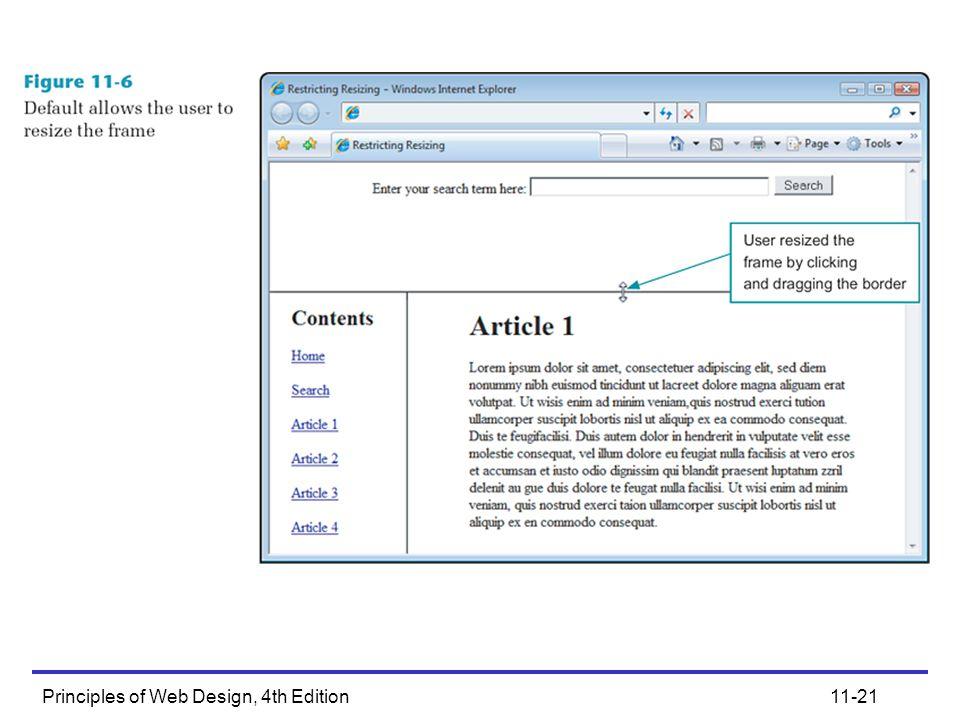 Principles of Web Design, 4th Edition11-21