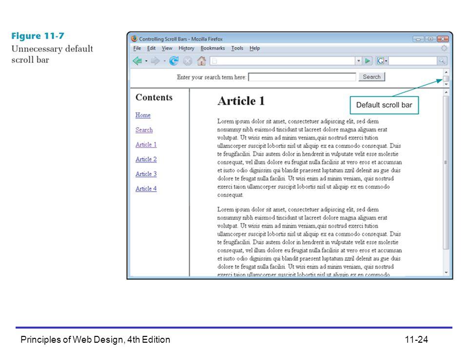 Principles of Web Design, 4th Edition11-24