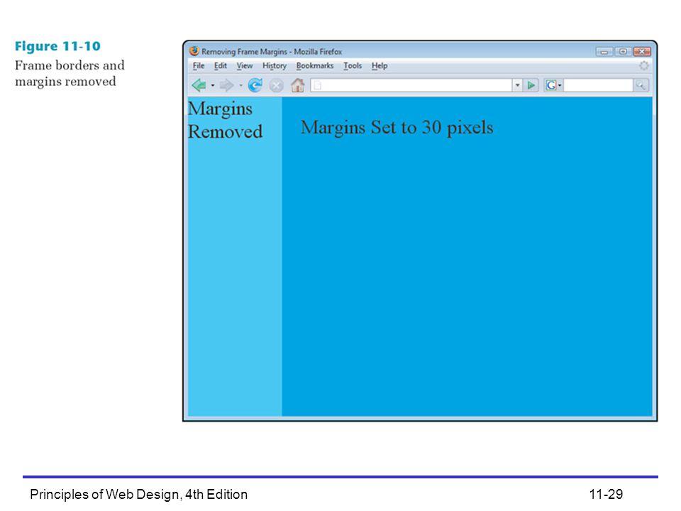 Principles of Web Design, 4th Edition11-29