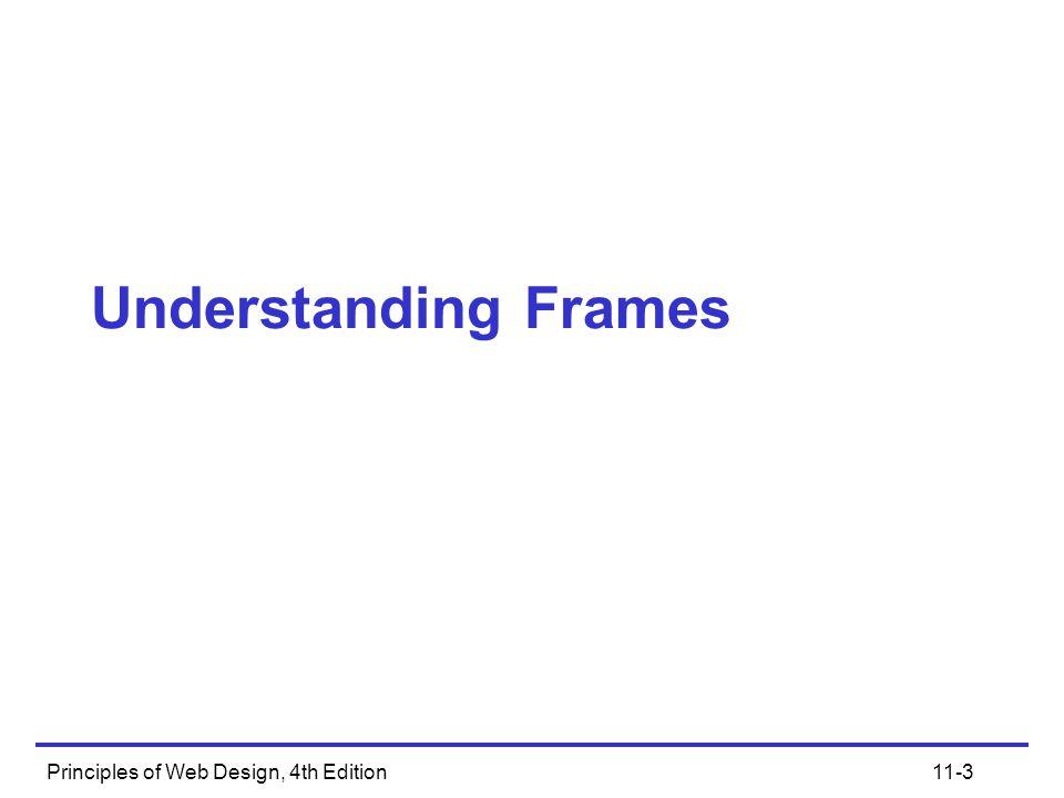 Principles of Web Design, 4th Edition11-14 Columns Frameset Syntax Two-column frameset: