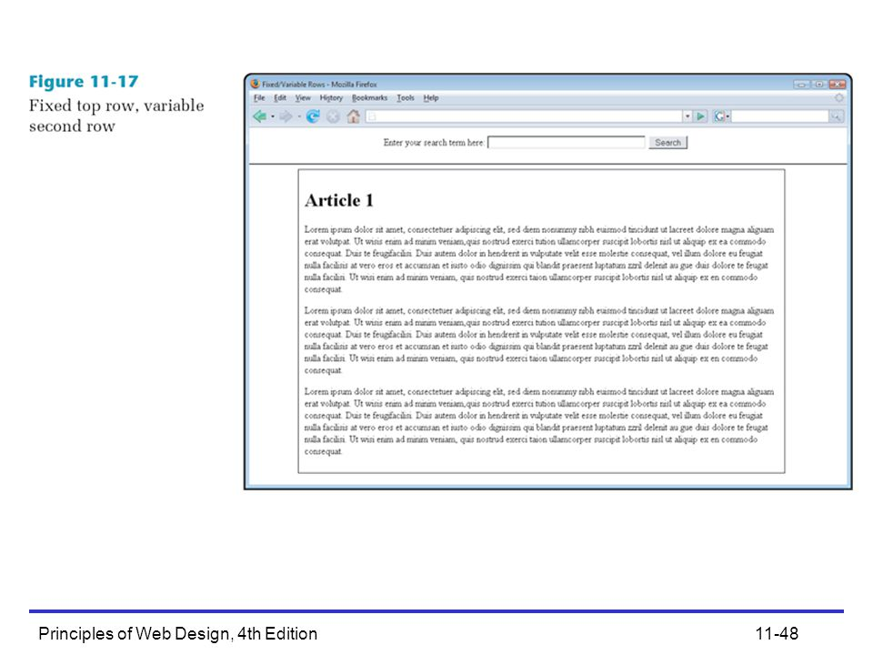 Principles of Web Design, 4th Edition11-48