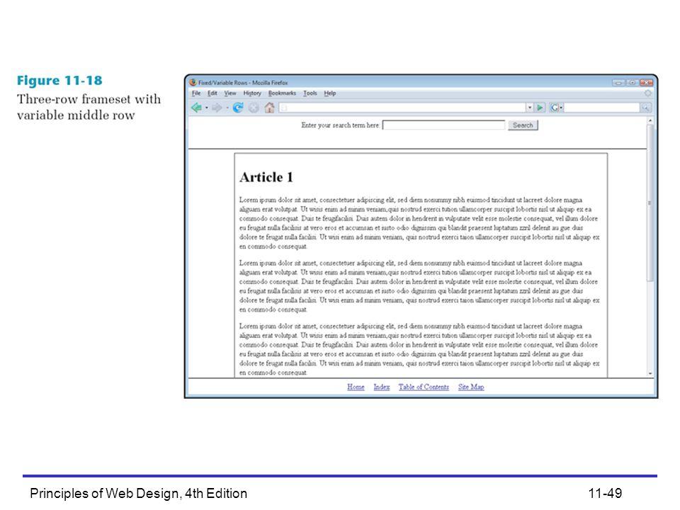 Principles of Web Design, 4th Edition11-49