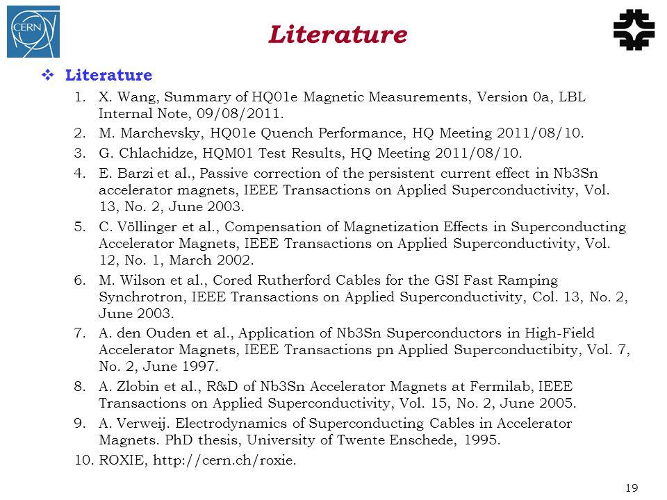  Literature 1.X.
