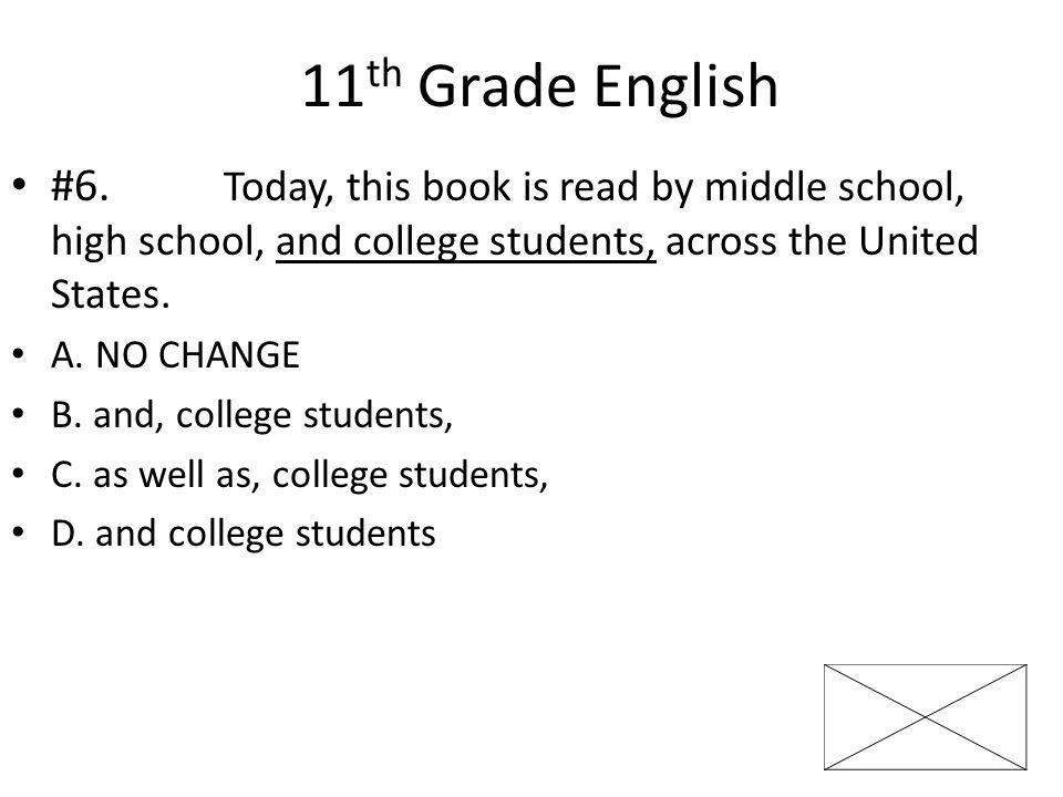 11 th Grade English #7.