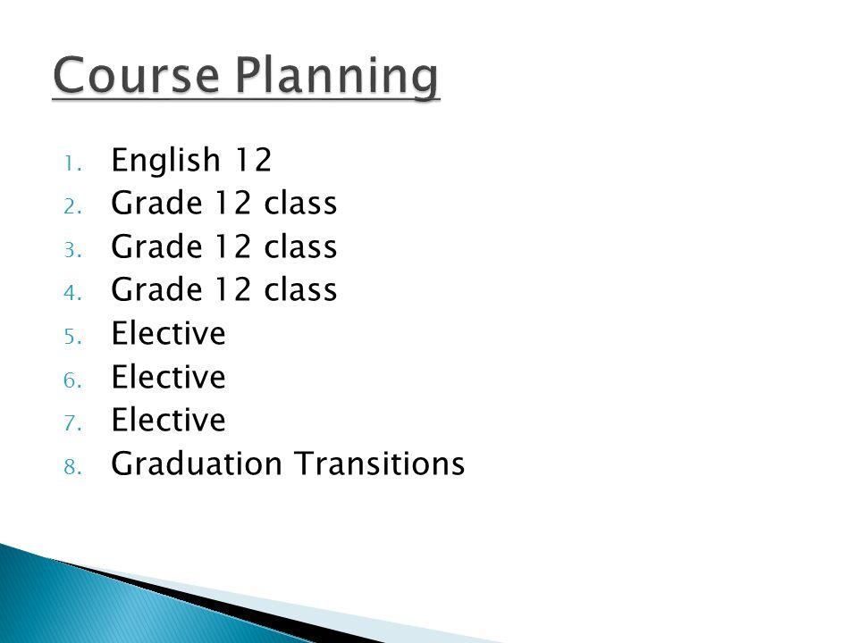 1. English 12 2. Grade 12 class 3. Grade 12 class 4.