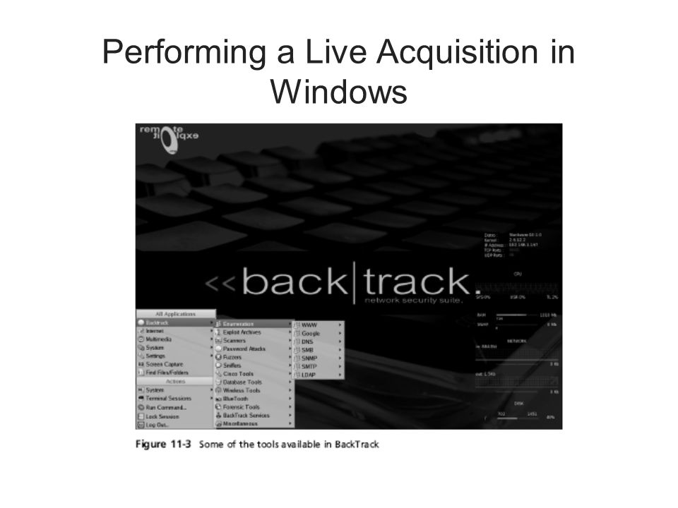 Performing a Live Acquisition in Windows