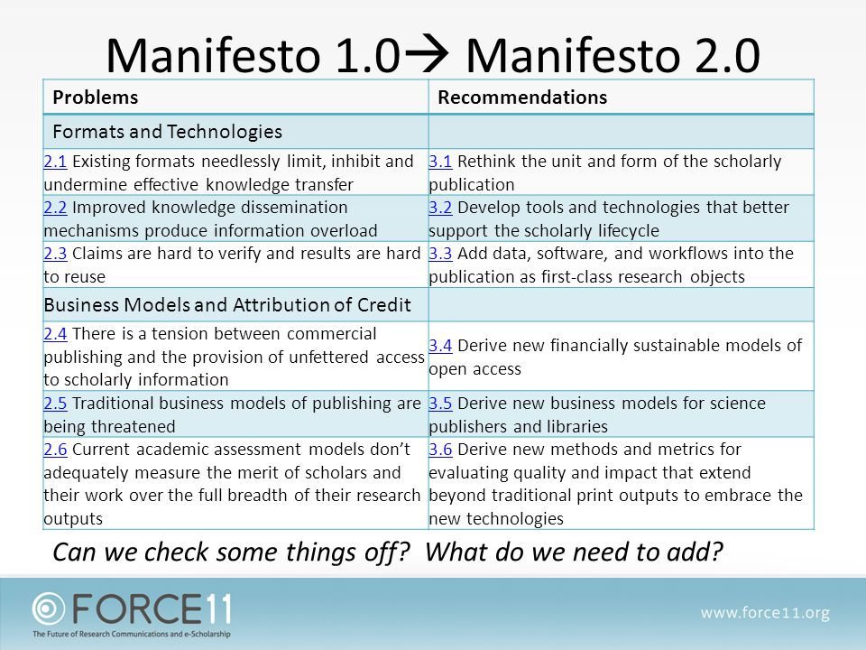 Why is the Manifesto a PDF.