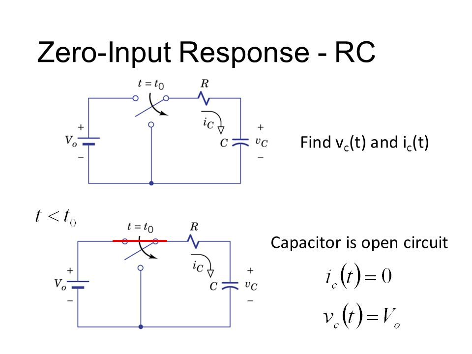 Find v c (t) and i c (t) Capacitor is open circuit