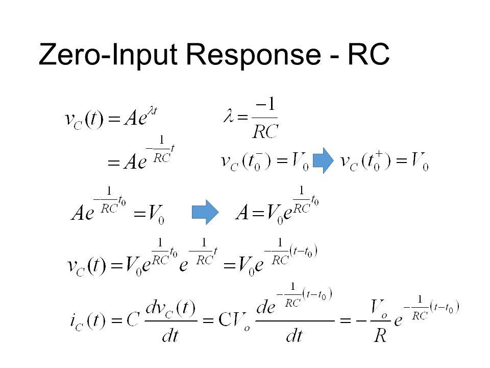 Zero-Input Response - RC
