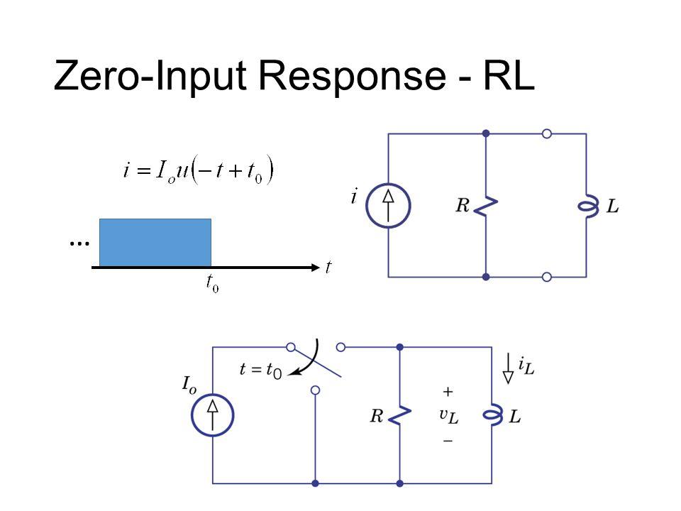 Zero-Input Response - RL …