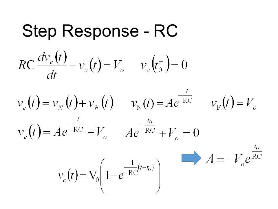 Step Response - RC