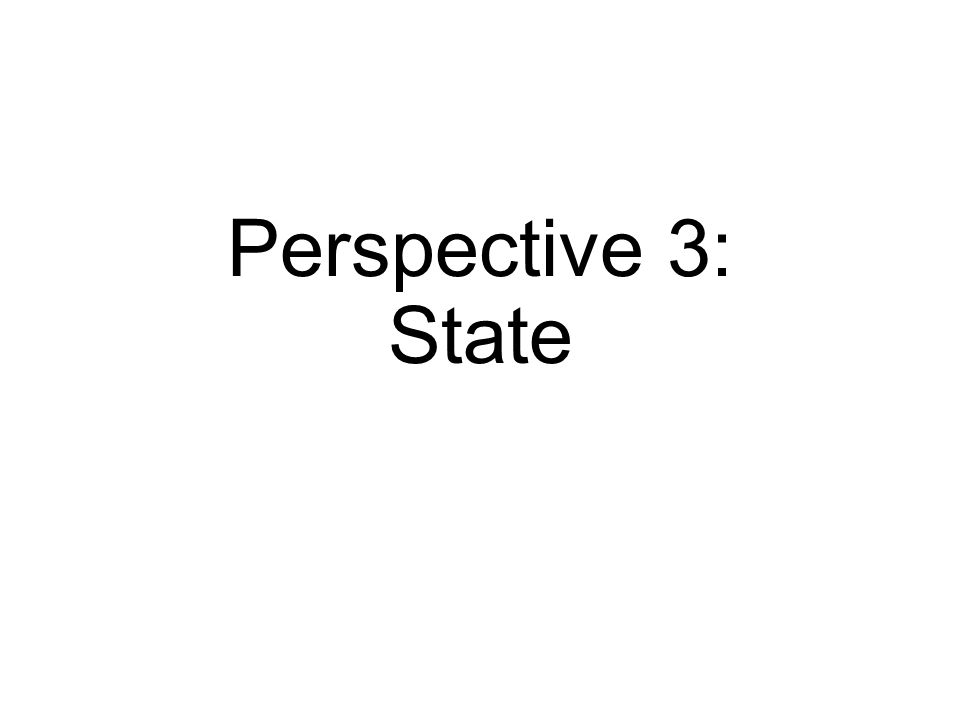 Perspective 3: State