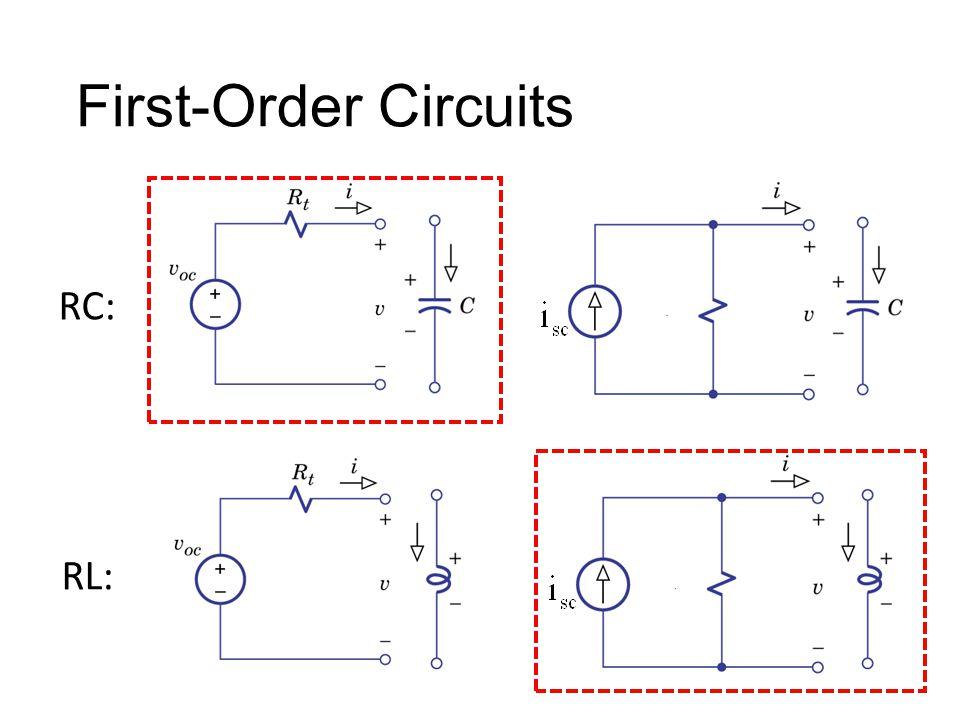 First-Order Circuits RC: RL: