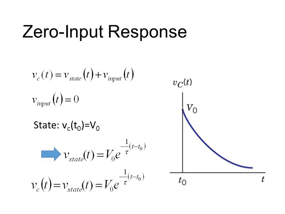 Zero-Input Response State: v c (t 0 )=V 0