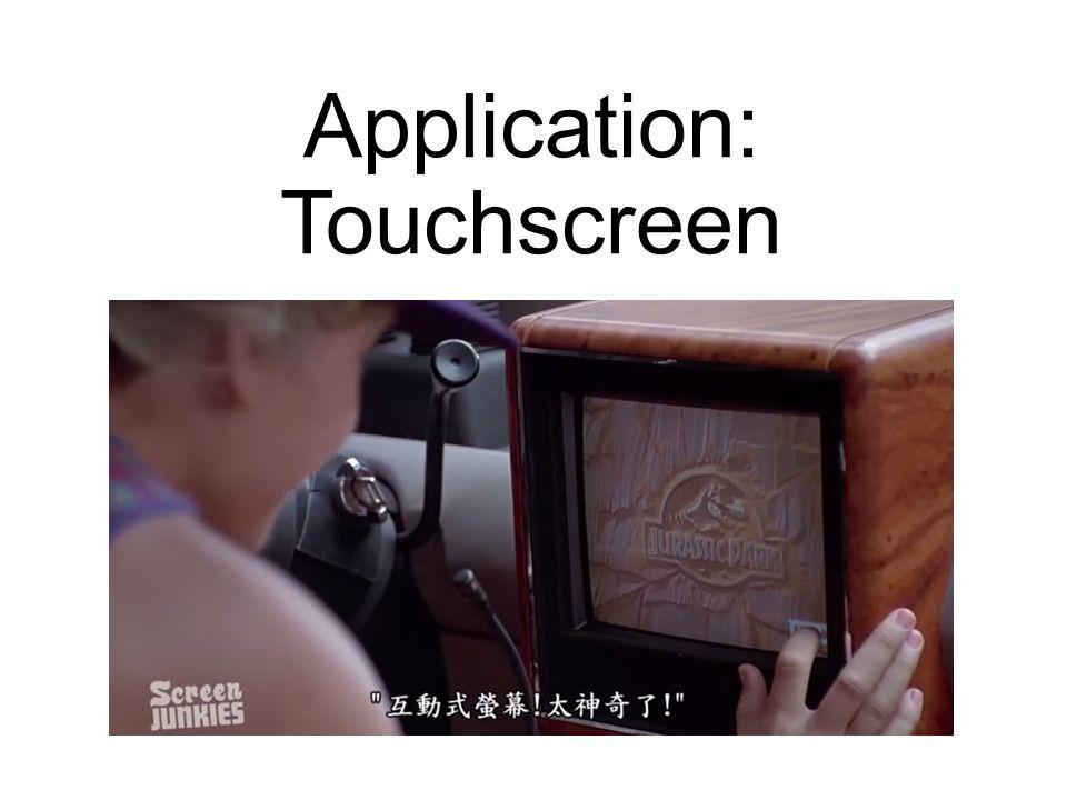 Application: Touchscreen