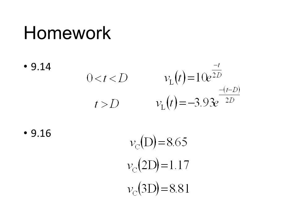 Homework 9.14 9.16