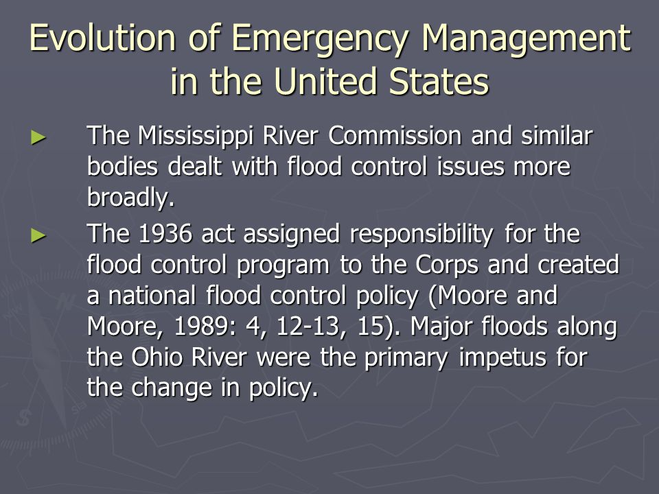 The Creation of FEMA ► Executive Order 12656, Assignment of Emergency Preparedness Responsibilities, of November 18, 1988, gave FEMA responsibilities for the national security emergency preparedness program as advisor to the National Security Council.