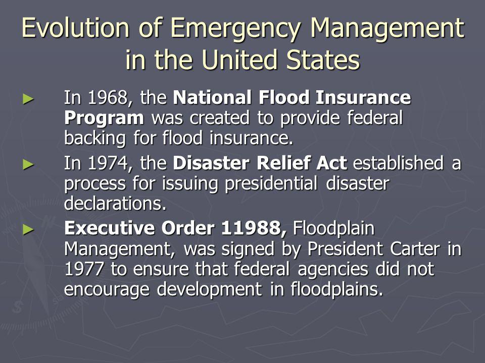 The Creation of FEMA  Department of Defense—ensuring military preparedness.