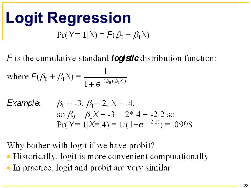 22 Logit Regression