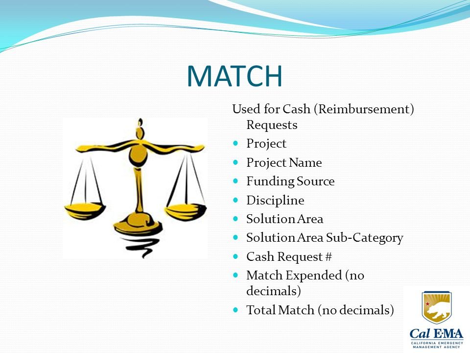 MATCH Used for Cash (Reimbursement) Requests Project Project Name Funding Source Discipline Solution Area Solution Area Sub-Category Cash Request # Match Expended (no decimals) Total Match (no decimals)