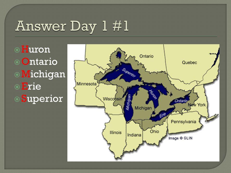  Huron  Ontario  Michigan  Erie  Superior