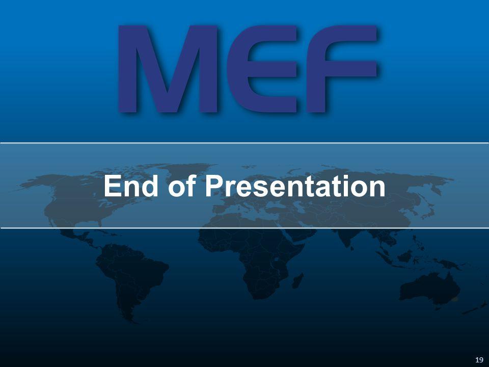 19 End of Presentation