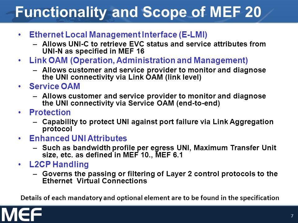 18 MEF Reference Presentations Presentations may be found at http://metroethernetforum.org/Presentations