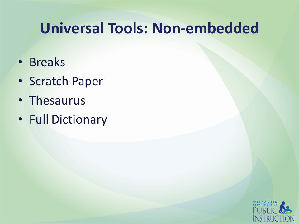 Universal Tools: Non-embedded Breaks Scratch Paper Thesaurus Full Dictionary