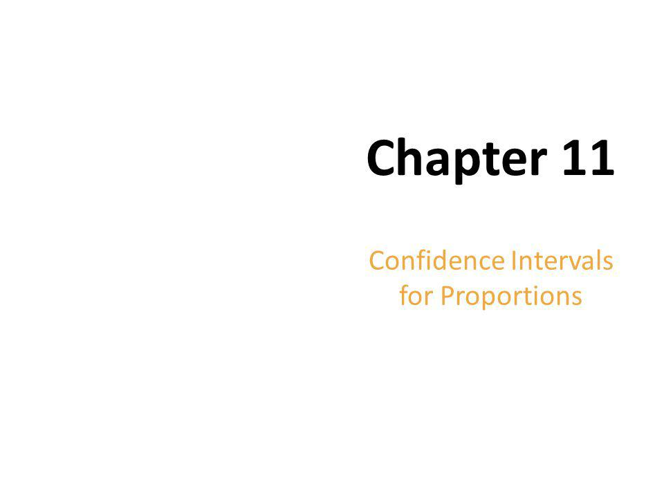 Copyright © 2012 Pearson Education. Chapter 11 Confidence Intervals for Proportions