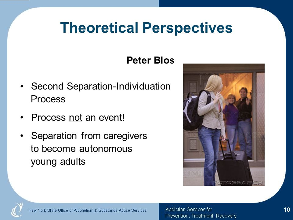 Peter Blos Second Separation-Individuation Process Process not an event.