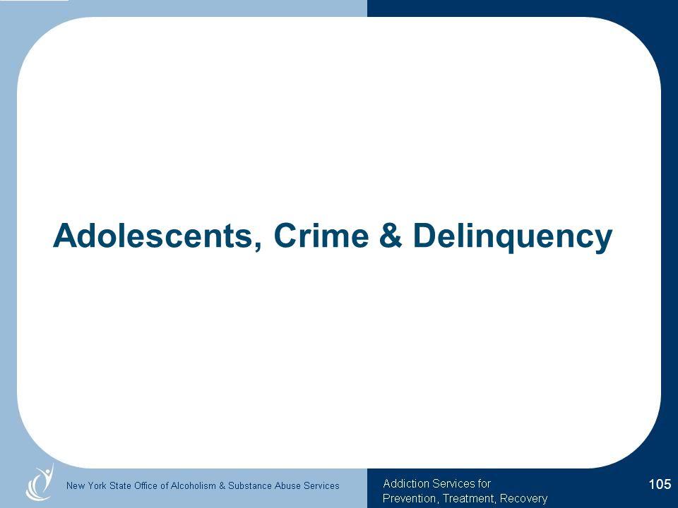 Adolescents, Crime & Delinquency 105