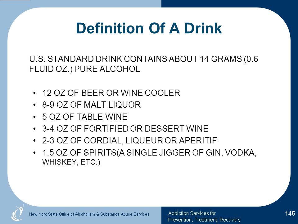 Definition Of A Drink U.S.