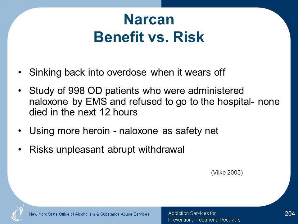 Narcan Benefit vs.