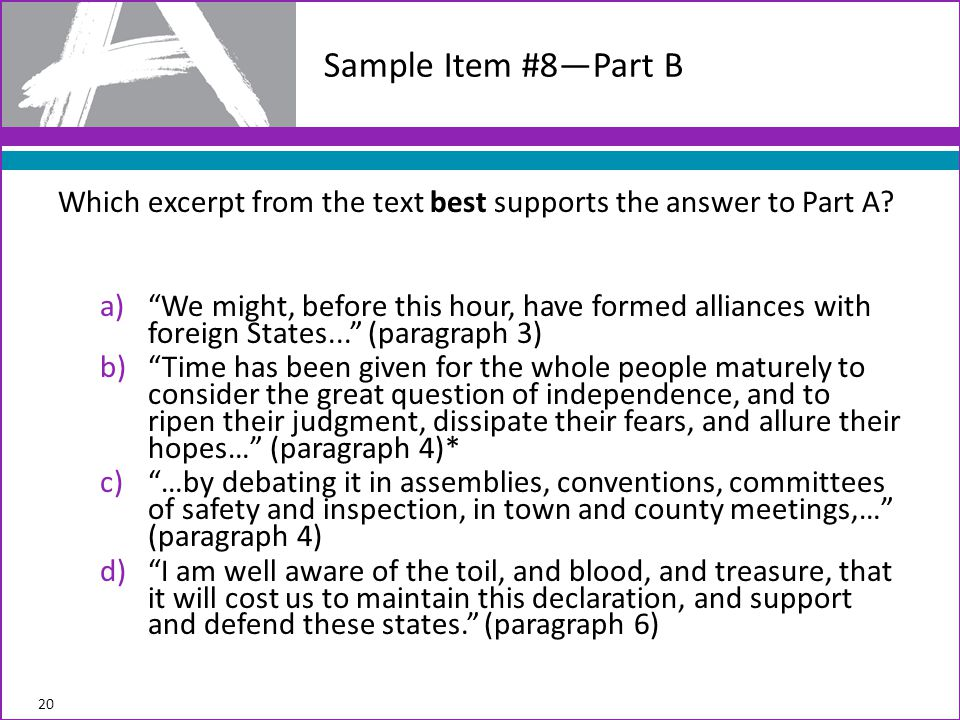 Which excerpt from the text best supports the answer to Part A.