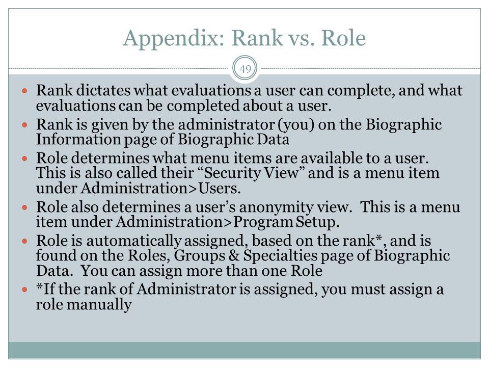 Appendix: Rank vs.