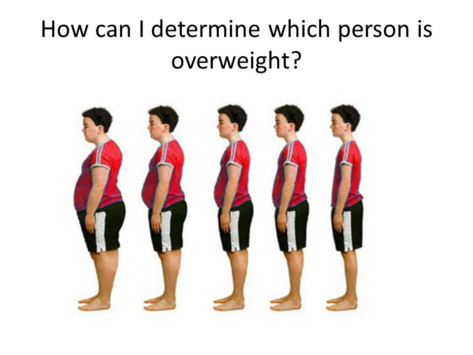 How can I determine which person is overweight?