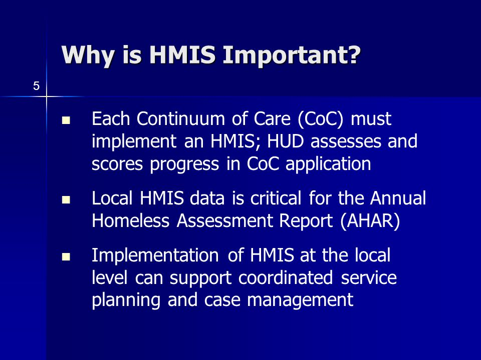 Why is HMIS Important.