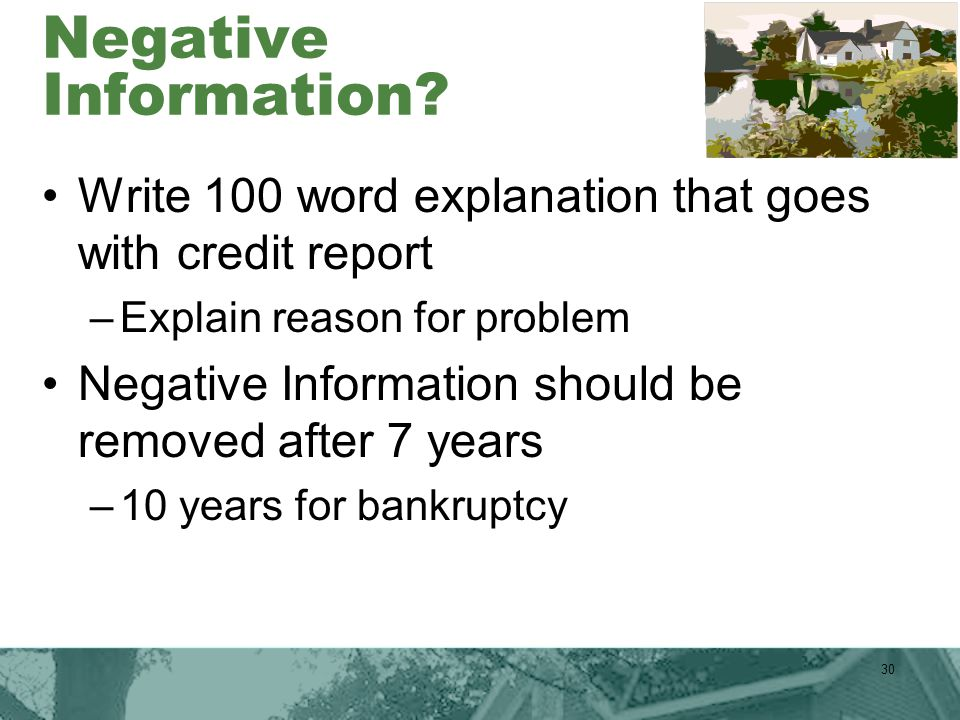 Negative Information.