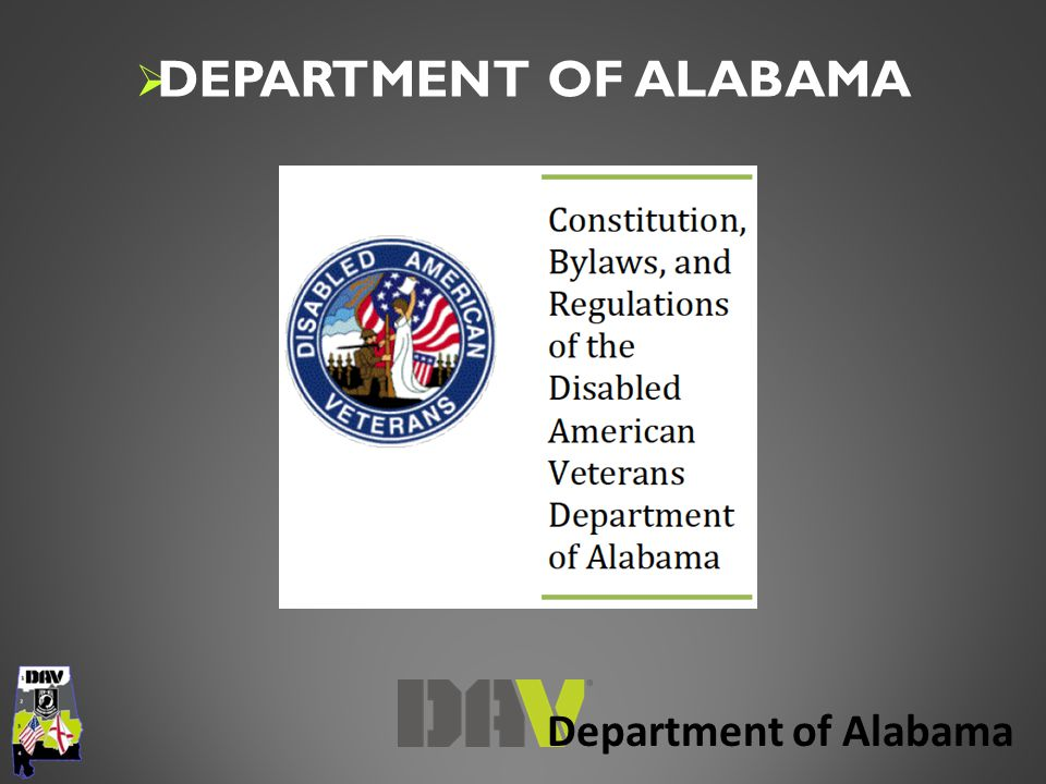Department of Alabama  DEPARTMENT OF ALABAMA