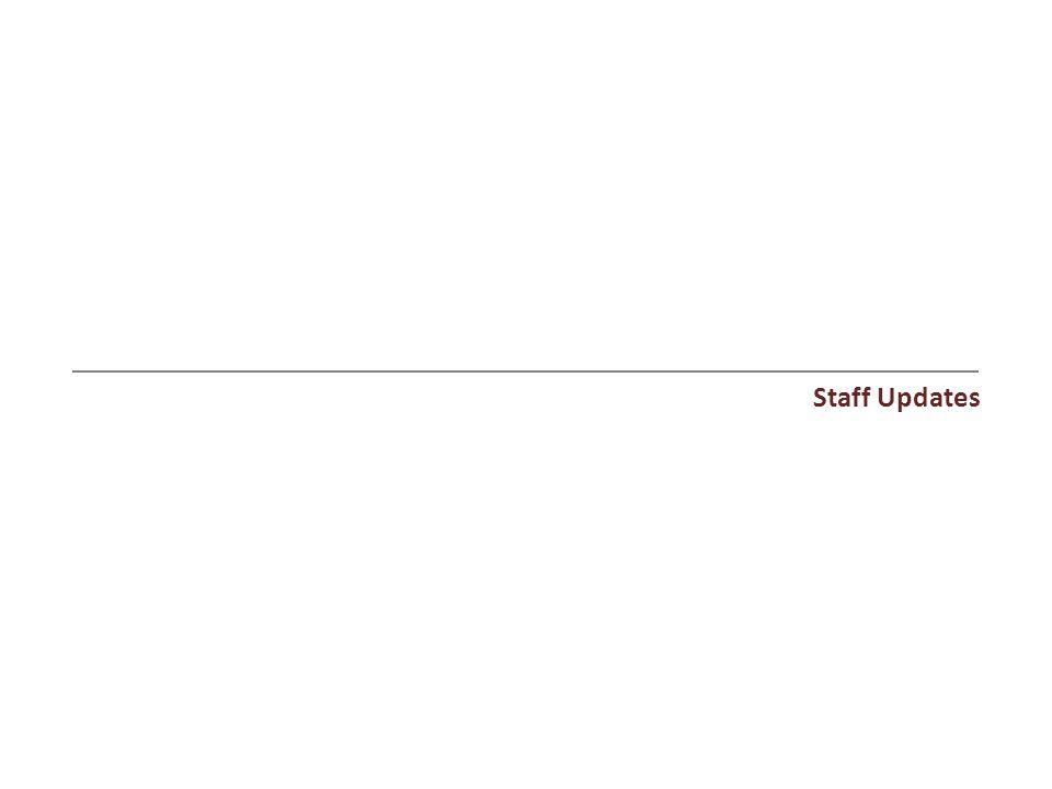 Staff Updates