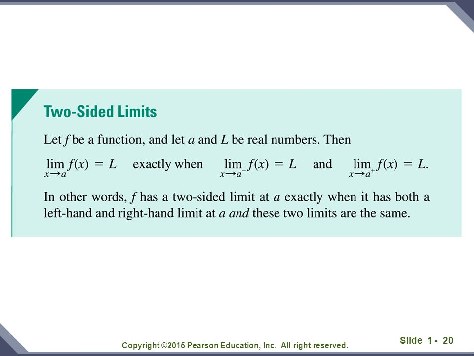 Slide 1 - 20 Copyright ©2015 Pearson Education, Inc. All right reserved.