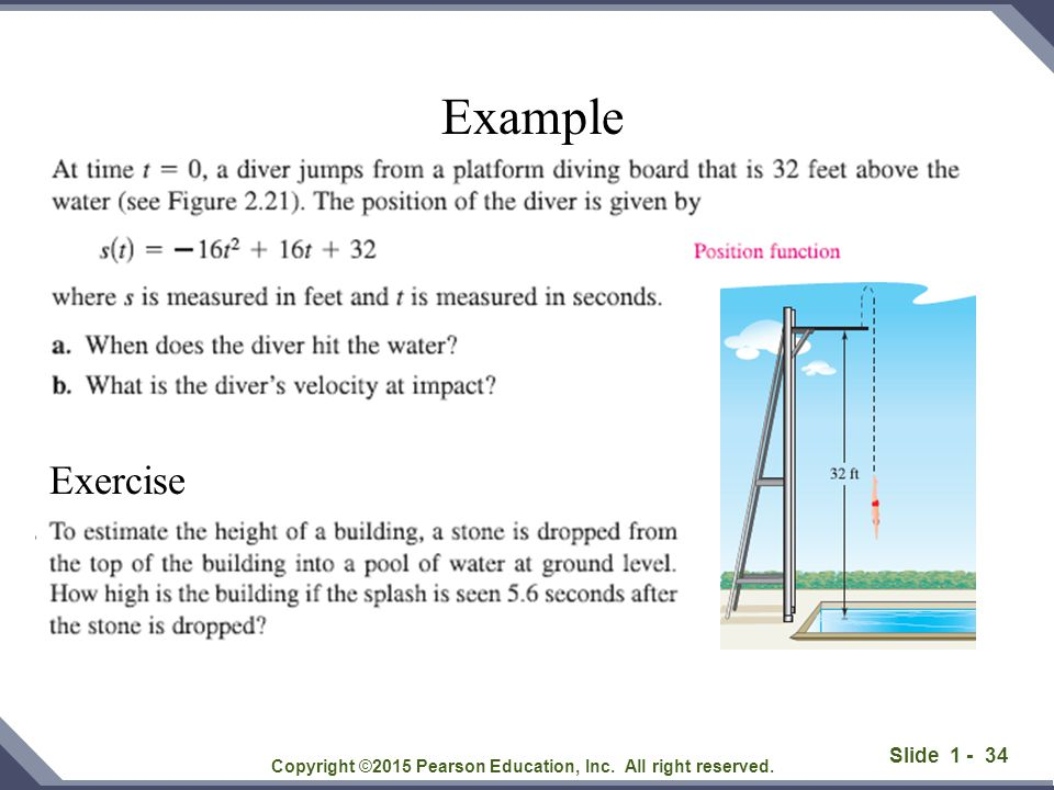 Slide 1 - 34 Copyright ©2015 Pearson Education, Inc. All right reserved. Example Exercise