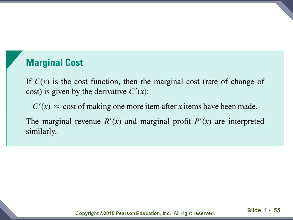 Slide 1 - 55 Copyright ©2015 Pearson Education, Inc. All right reserved.