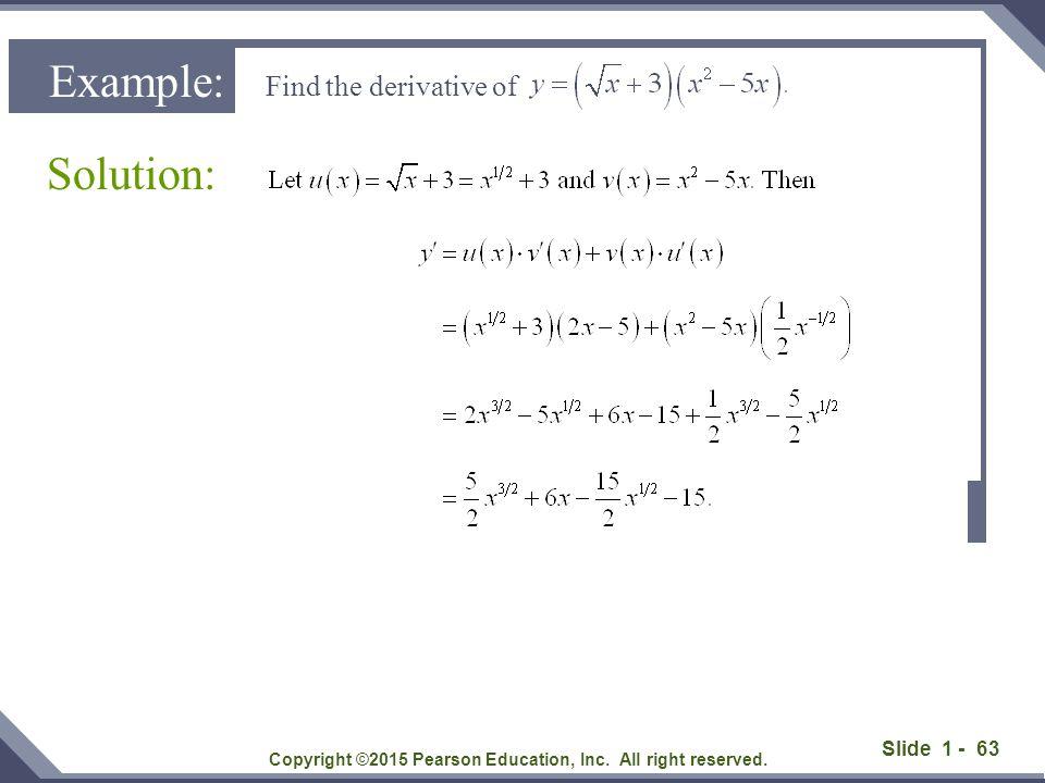 Slide 1 - 64 Example Copyright ©2015 Pearson Education, Inc.