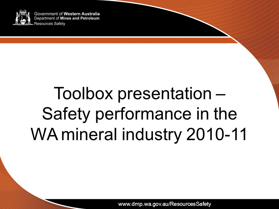 www.dmp.wa.gov.au/ResourcesSafety Injuries by mineral mined during 2010-11